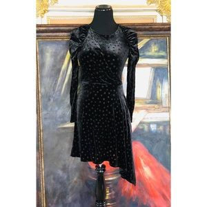 Black Vintage Velvet Dress   Top Shop